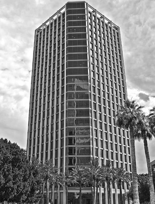office building-bw